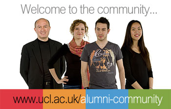 image linked to UCL's Alumni Community pages