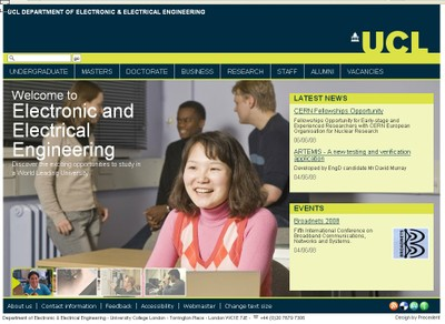 Welcome to the UCL Department of Electronic & Electrical Engineering
