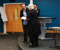 May 2018: Christian wins Cullen prize for best poster at Mildner Lecture