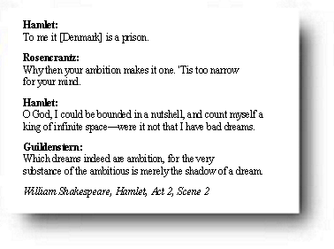 syntax in hamlet The quote to be, or not to be is from shakespeare's hamlet hamlet: to be, or not to be, that is the question: whether 'tis nobler in the mind to suffer shakespeare is really twisting syntax with this one.